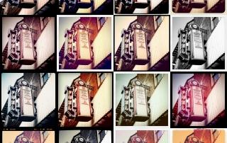 diferentes filtros de instagram